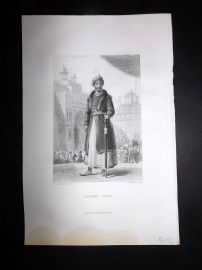 Nolan India C1880 Antique Portrait Print. Tippoo Saib